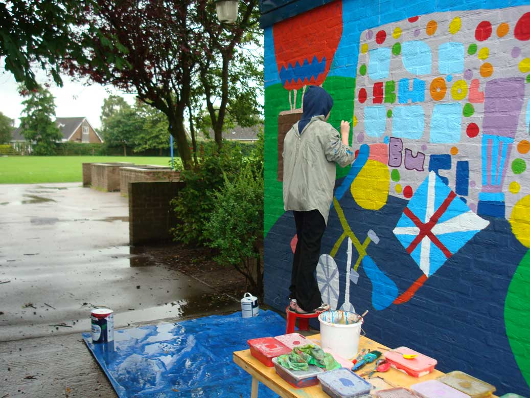 We even painted in the rain!