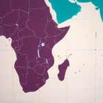 Loving purple Africa with white country borders.